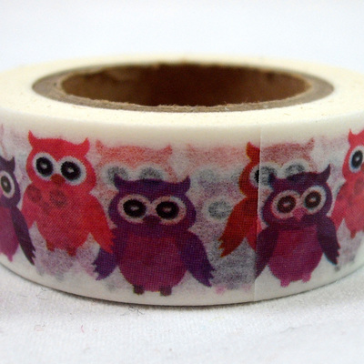 Washi Tape - Pink & Purple Owls