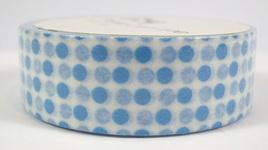 Washi Tape - Polka Dots: Pale Blue on White Background