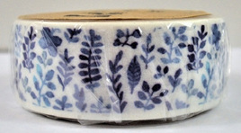 Washi Tape - Porcelain Blue Flowers