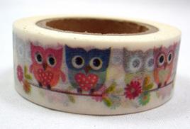 Washi Tape - Pretty Owls