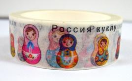 Washi Tape - Pretty Russian Dolls
