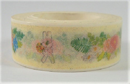 Washi Tape - Rabbits and Flowers CLEARANCE
