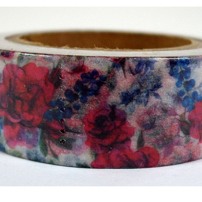 Washi Tape - Red Flowers