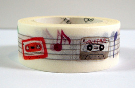 Washi Tape - Retro Cassette Tapes