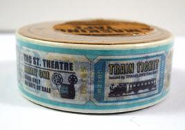 Washi Tape - Retro Tickets: Style A