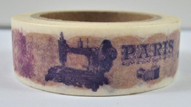 Washi Tape - Vintage Paris and Sewing Machine CLEARANCE