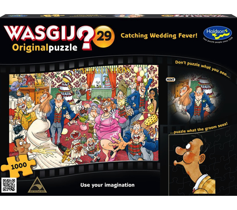 Wasjig 1000 piece puzzle Catching Wedding Fever now at www.puzzlesnz.co.nz