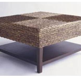 Water Hyacinth Checker Coffee Table