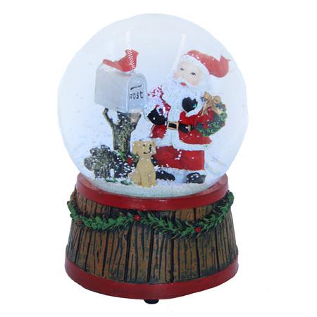Waterball - Santa & dog - windup with music