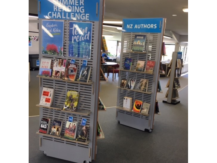NEW Wainuiomata Library Book Stands