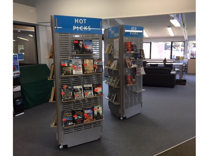 NEW: Wainuiomata Library Book Stands
