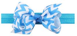Wave Bow Hairband - BLUE