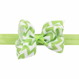 Wave Bow Hairband - Green