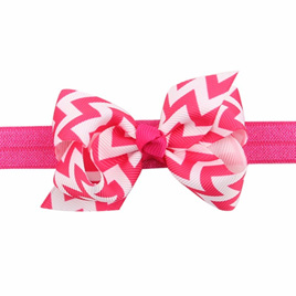 Wave Bow Hairband - Hot Pink