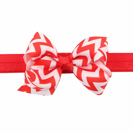 WAVE HAIR BAND - RED & WHITE
