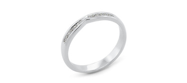 Waved Delicate Ladies Wedding Ring