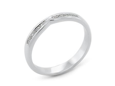 Waved Delicate Ladies Wedding Ring