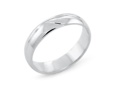 Waved Men's Wedding Ring