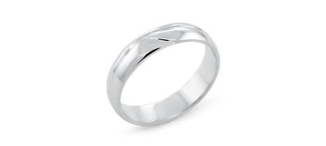 Waved Men's Wedding Ring