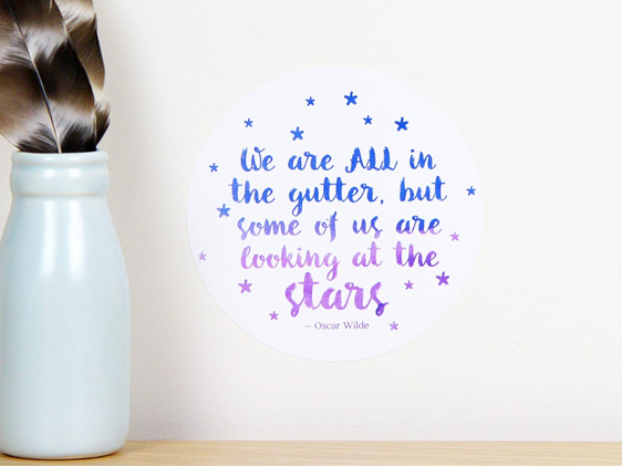 We are all in the gutter but some of us are looking at the stars quote decal
