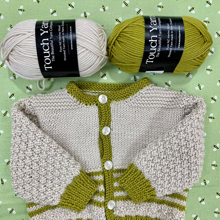 We are loving this combo of touch yarns