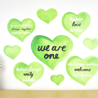 We are one wall decal set - fundraising for Christchurch mosque attack victims