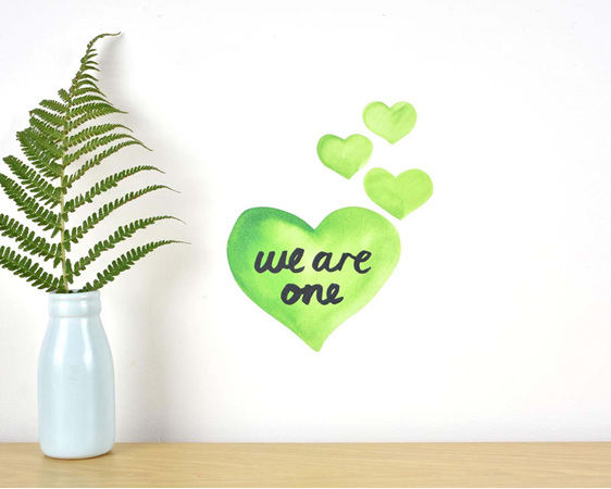 We are one wall decal tiny - fundraising for Christchurch mosque attack victims