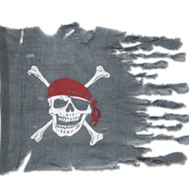 Weathered look pirate flag