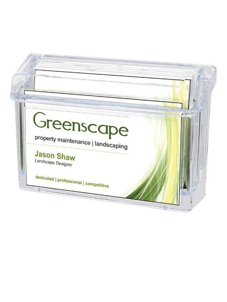 Weatherproof Outdoor Business Card Holder, with Self-Closing Lid, Wall Mounting,