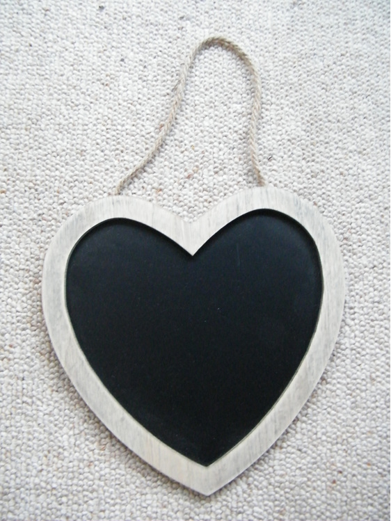 wedding and event hire blackboard heart sign