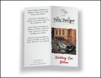Wedding Car Ribbon Brochure