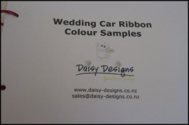 Wedding Car Ribbon Sample Cards