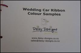 Wedding Car Ribbon Sample Cards
