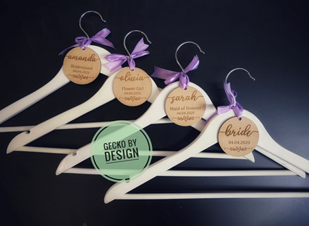 Wedding Coat Hanger Tags
