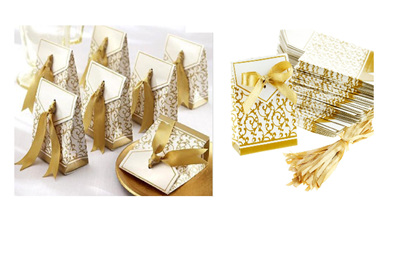 Wedding Favour boxes - gold and silver