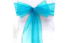 Wedding Turquoise Chair Sashes