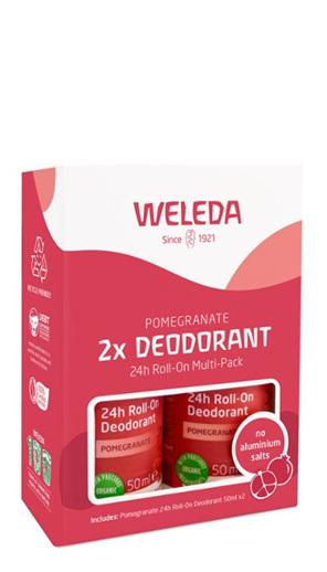 WELEDA Pomegranate 2x Deodorant 24h Roll-on Multi-Pack