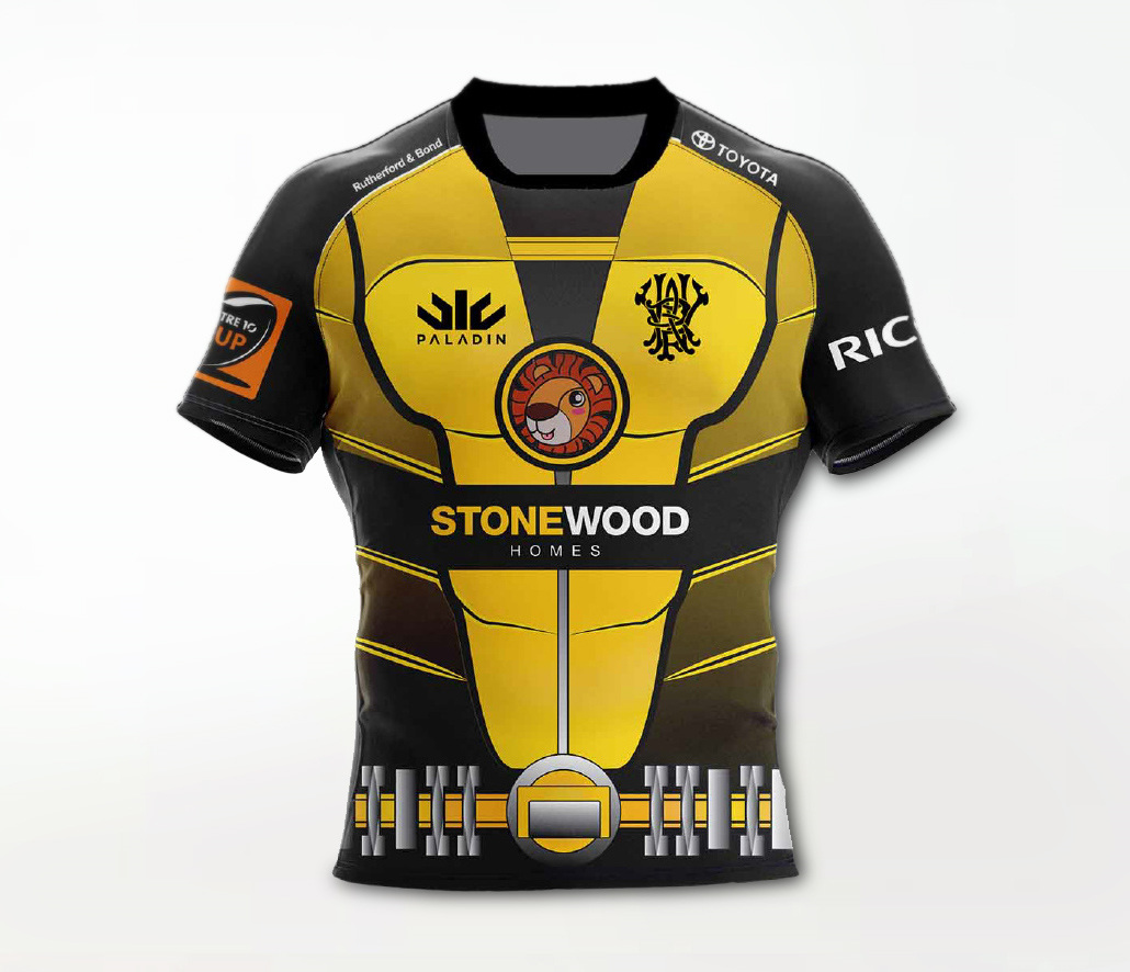 wellington lions charity rugby jersey