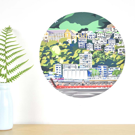 Wellington Waterfront wall decal dot