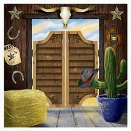 Western scene setter/photo backdrop
