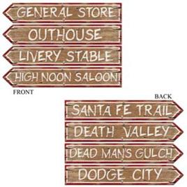 Western sign cardboard cutouts