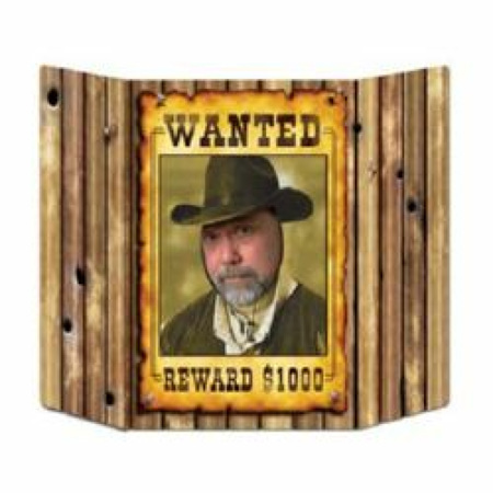 Western wanted photo prop.