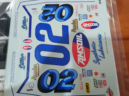Wet Works 1981 #02 Mark Martin Amsoil Pontiac Decals (WW25)