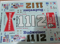 Wet Works 1984 #11 & #12 Budweiser Monte Carlo Decals (WW79)