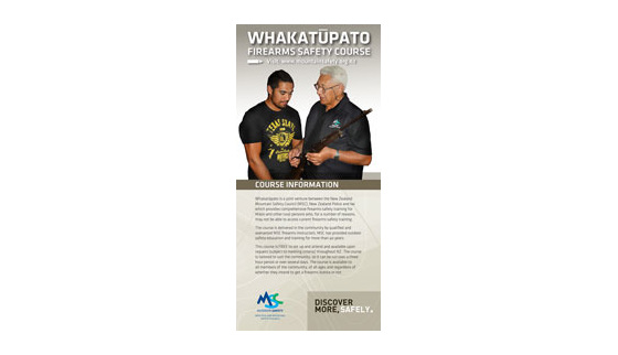 WFSCDLF - Whakatupato Firearms Safety Course DL Flyer