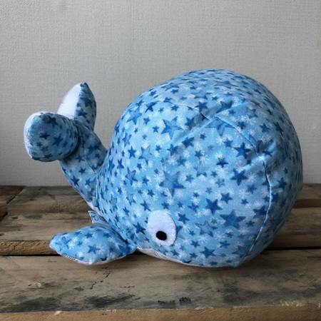Whale - Blue Stars White bottom