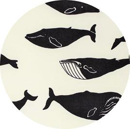 """Whale Pod"", Cream, GOTS Organic Cotton Knit"