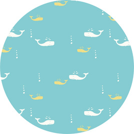 """Whale Watch"" GOTS Organic Cotton, 116 gsm"