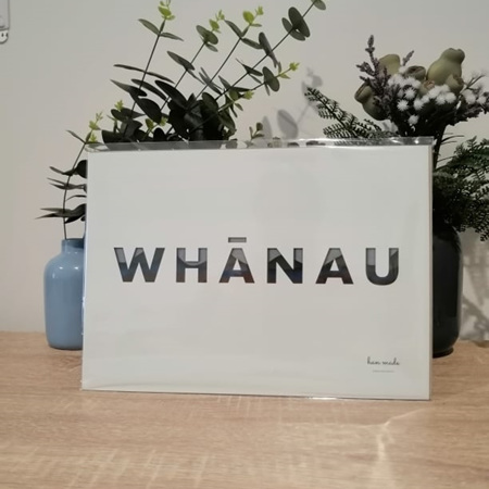 Whānau A4 Print - Mint Background