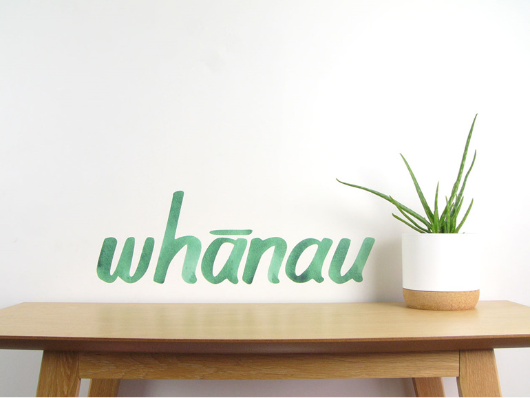 Whanau wall decal